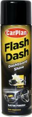 CarPlan Flash Dash sprej za armaturno ploščo, brez silikona, mat, vanilija, 500 ml