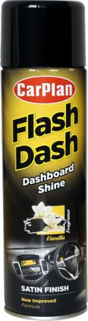 CarPlan Flash Dash sprej za armaturno ploščo (brez silikona), mat, vanilija, 500 ml