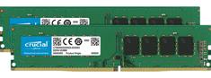 Crucial 32 GB Kit (2 x 16 GB) DDR4-2666, UDIMM, PC4-21300, CL19 pomnilnik (RAM) (CT2K16G4DFD8266) - Odprta embalaža
