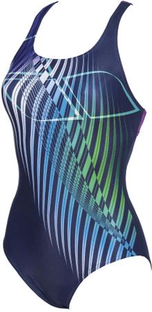 ARENA W Optical Waves Swim Pro Back One Piece LB (003275-790) női fürdőruha, 36, kék