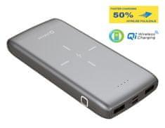 Platinet PMPB10QIB prijenosna baterija, 10000 mAh, Qi bežično punjenje, sivo/crna