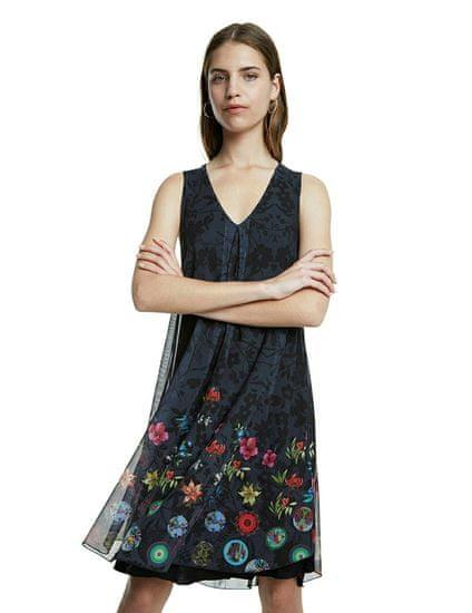 Desigual dámske šaty Carnagy 20SWVK96 XS čierna