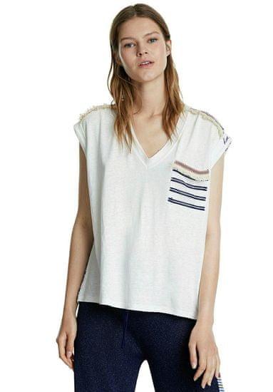 Desigual dámske tričko Verona 20SWTKC5, XS, smotanové