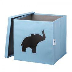 Love It Store It Úložný box na hračky s krytem a okénkem - slon