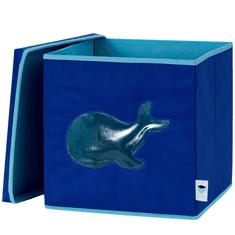 Love It Store It Úložný box na hračky s krytem a okénkem - velryba