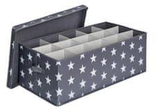 Love It Store It box na vianočné gule , hviezda, šedá