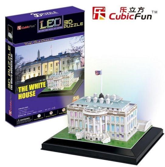 CubicFun The White House LED 3D 56 dielikov