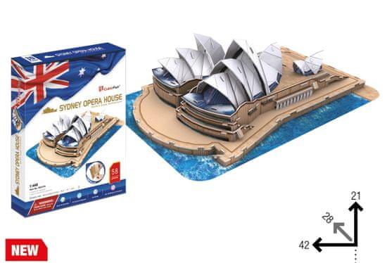 CubicFun Opera a Harbour Bridge, Sydney 3D 58 dielikov