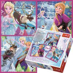Trefl 3v1 Frozen: Zimná mágia 20 dielikov