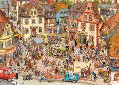 Heye Puzzle 1000 db Göbel/Knorr - Market Place