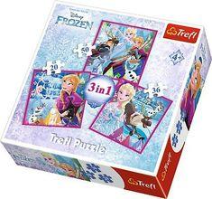 Trefl 3v1 Frozen: Zimná mágia 15 - 39 dielikov