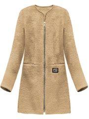 Amando Dámsky prechodný vlnený kabát 22643, béžový