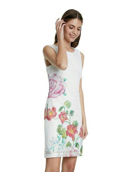 Desigual dámské šaty Bonney 20SWVWA9 36 bílá