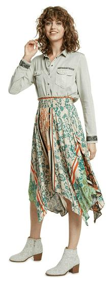 Desigual dámska sukňa Siros 20SWFW20 S béžová