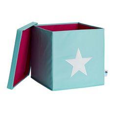 Love It Store It Box na hračky s krytem - zelený, bílá hvězda