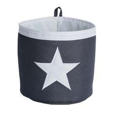 Love It Store It Malý úložny box, okrúhly - šedý, biela hviezda