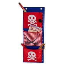Love It Store It Závesný organizér Piráti – červený s bielym pirátom