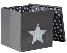 Love It Store It Box na hračky s krytem - šedý, Vintage Star