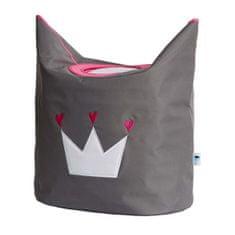 Love It Store It Box na prádlo - šedý, bílá koruna
