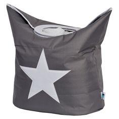 Love It Store It Box na prádlo - šedý, bíla hvězda