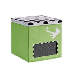 Love It Store It Box na hračky s krytem - Fotbal, Goooal, malý