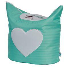 Love It Store It Box na prádlo - mint, bílé srdíčko