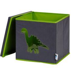 Love It Store It Úložný box na hračky s krytom a okienkom - dinosaurus