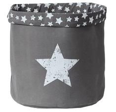 Love It Store It Veľký úložný box na hračky, okrúhly - šedý, Vintage Star