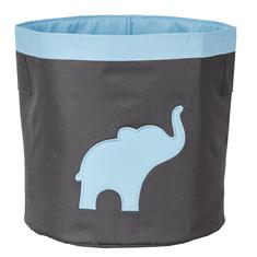 Love It Store It Velký úložný box na hračky, kulatý - šedý, modrý slon