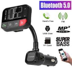 Blow 74-151 FM odašiljač, Bluetooth+punjač+telefoniranje bez ruku, crni