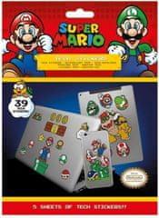 Pyramid Super Mario (Mushroom Kingdom) komplet naljepnica, 39 komada