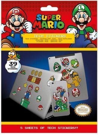 Pyramid Super Mario (Mushroom Kingdom) komplet nalepk, 39 kosov