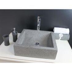 Aqua umyvadlo, 40x40 cm šedá