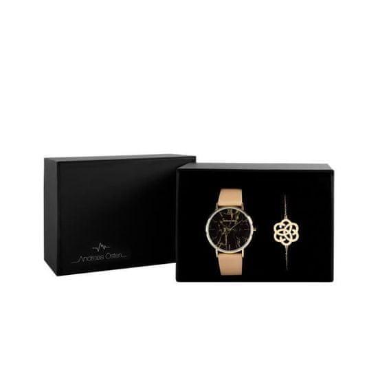 AndreasOsten dárková sada dámských hodinek a náramku