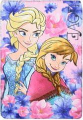Sun City Fleecová / fleece deka Frozen Anna a Elsa Love 100x150