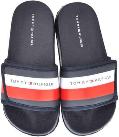 Tommy Hilfiger klapki chłopięce T3B0-30761-0739800, 35 niebieskie