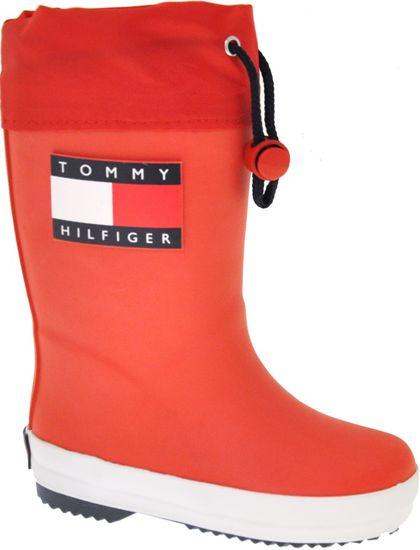 Tommy Hilfiger detské čižmy T3X6-30766-0047300 31 červená