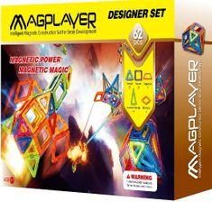 MAGPLAYER Magplayer magnetická stavebnice 62 ks