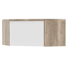 Rohový nadstavec, dub canyon/biela, MARIANA MX 33