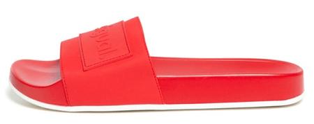 Desigual Slide Logomania ženske natikače 20SSHP04, crvena, 37