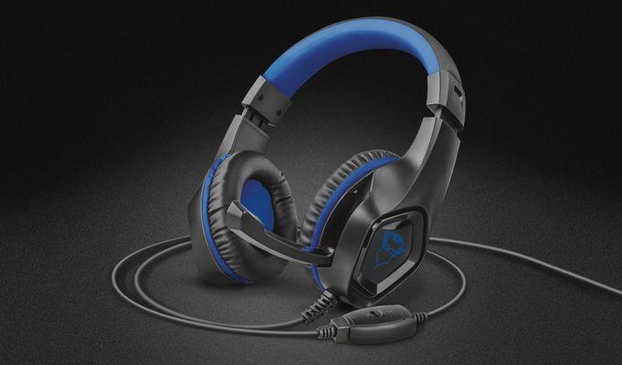 słuchawki gamingowe Trust GXT 404B Rana, przetworniki 40 mm, składany mikrofon, świetny dźwięk, konsola, PS4