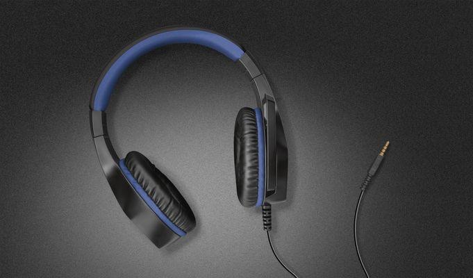 słuchawki gamingowe Trust GXT 404B Rana, przetworniki 40 mm, wyciszenie mikrofonu, regulacja głośności, złącze jack 3,5 mm