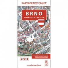 Brno Historické centrum - Kreslený plán města