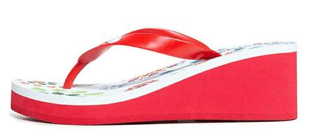 Desigual Lola Galactic ženske sandale 20SSHP06, crvena, 36