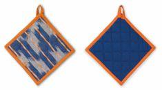 Kela Chňapka čtvercová ETHNO 100% bavlna modrá 20x20cm