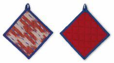 Kela Chňapka čtvercová ETHNO 100% bavlna červená 20x20cm