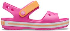 Crocs dievčenské Crocband Sandal Kids Electric Pink/Cantaloupe 12856-6QZ