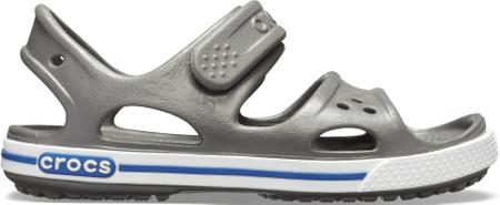 Crocs Crocband II Sandal PS Slate Grey/Blue Jean 14854-0DB fantovski sandali, sivi, 30–31