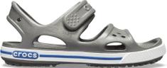 Crocs sandały chłopięce Crocband II Sandal PS Slate Grey/Blue Jean 14854-0DB
