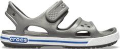 Crocs chlapčenské Crocband II Sandal PS Slate Grey/Blue Jean 14854-0DB